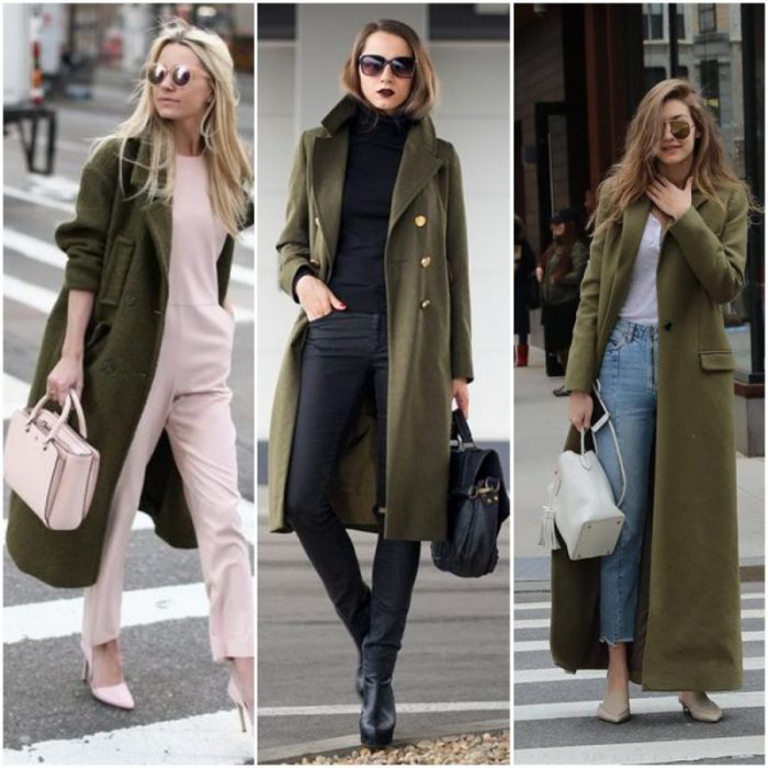 looks con abrigos verde militar