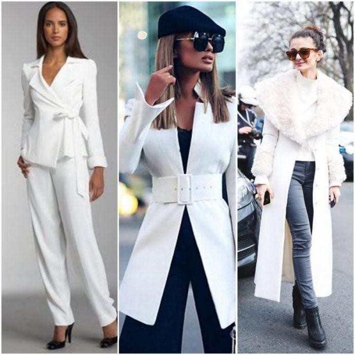 outfit con saco blanco