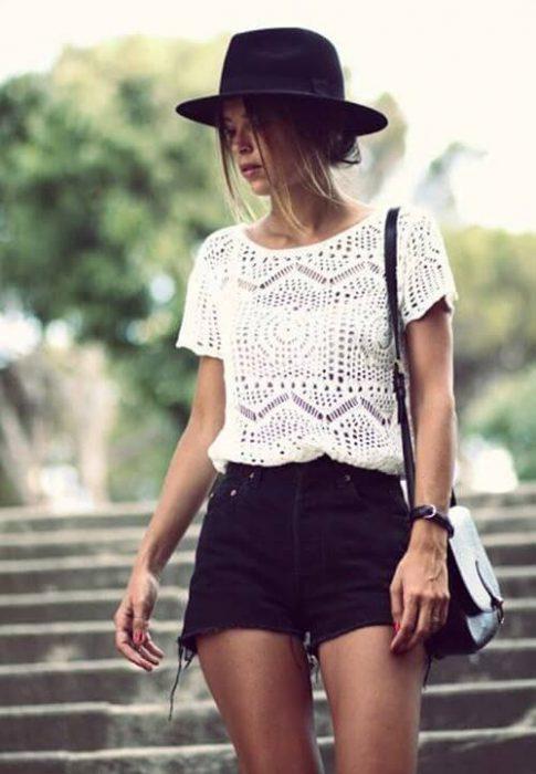 short de jeans negro verano