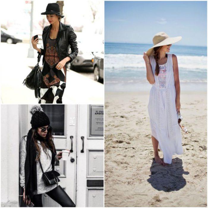 LOOK CON sombreros de moda