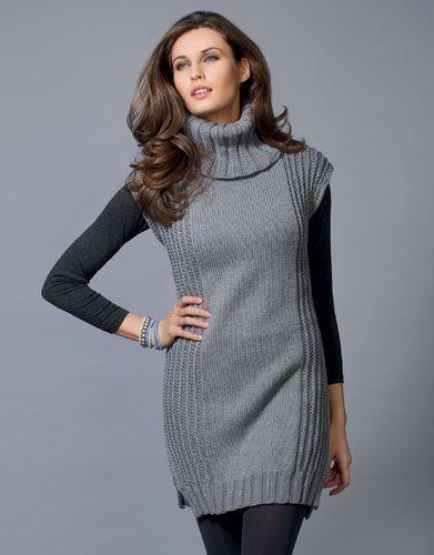 chaleco vestido tejido