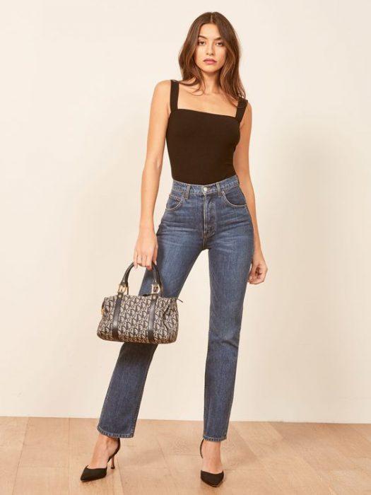 jeans recto y body verano