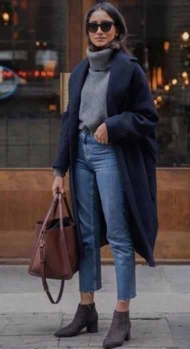 jeans recto y tapado de pano