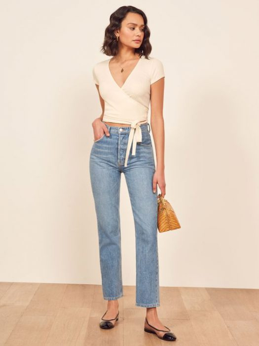 jeans recto y top