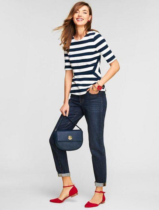 look casual con jeans clasico azul