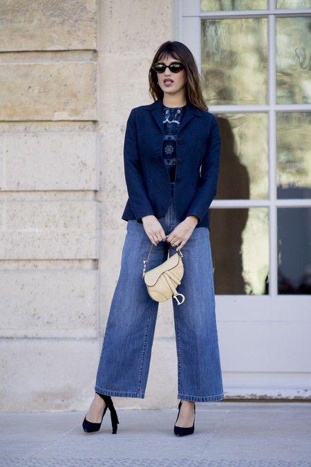 look formal con pantalon ancho