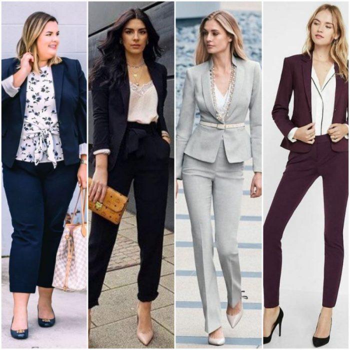 look modernos con trajes ejecutivos mujer