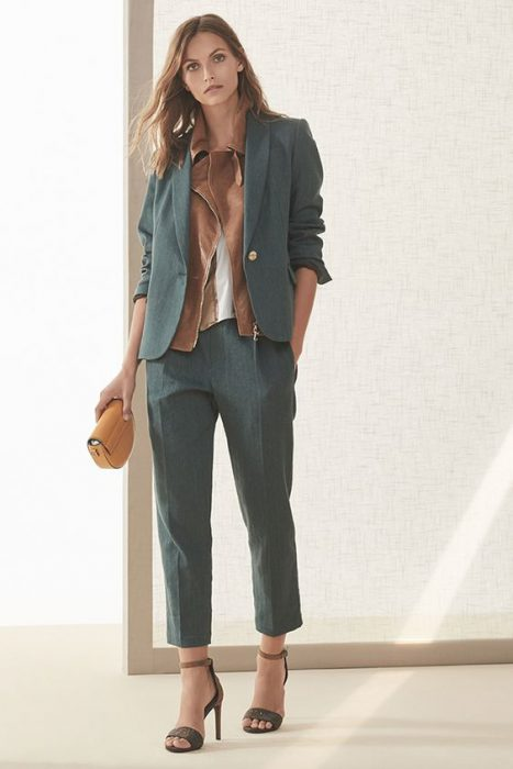 pantalon chino blazer mujer