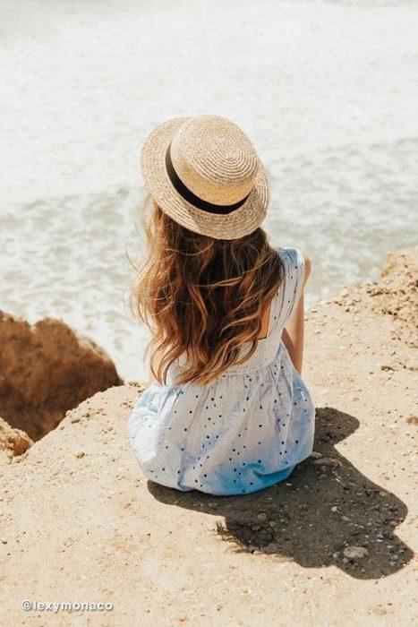 sombrero de ala corta mujer