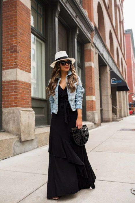 sombrero para usar con vestido urbano verano