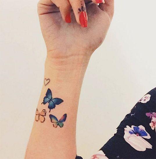 tatuaje artistico de mariposas