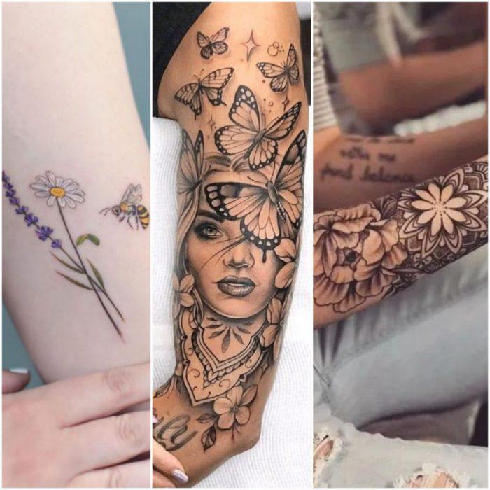 Tatuaje en brazo para mujer