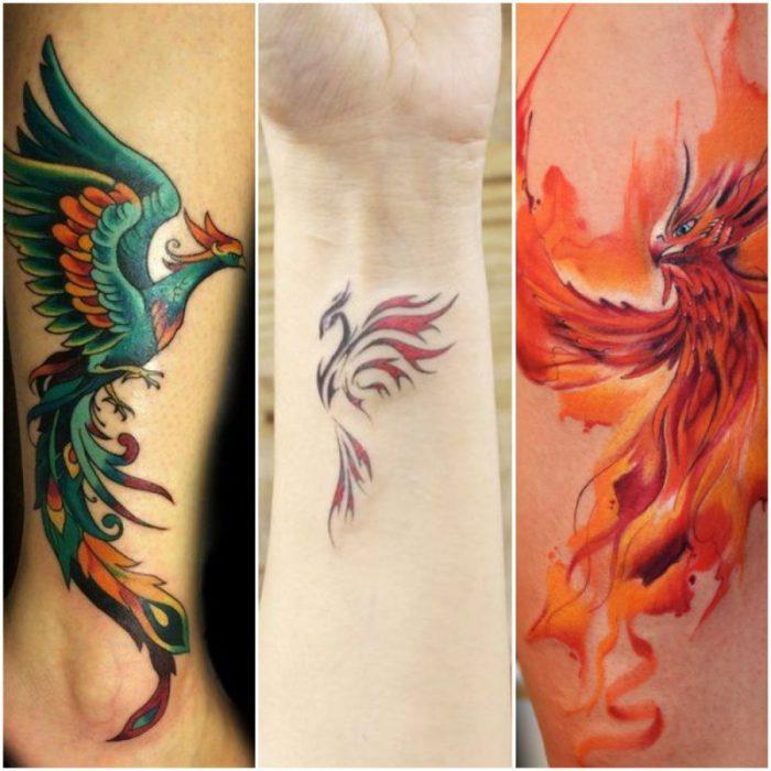 Tatuajes para mujer del ave fenix