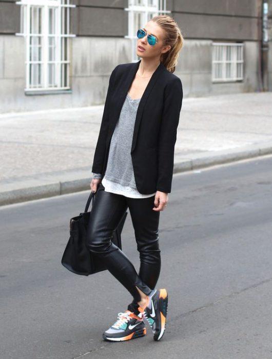 blazer casual negro