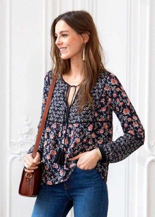 blusas estampadas estilo bohemio para la primavera