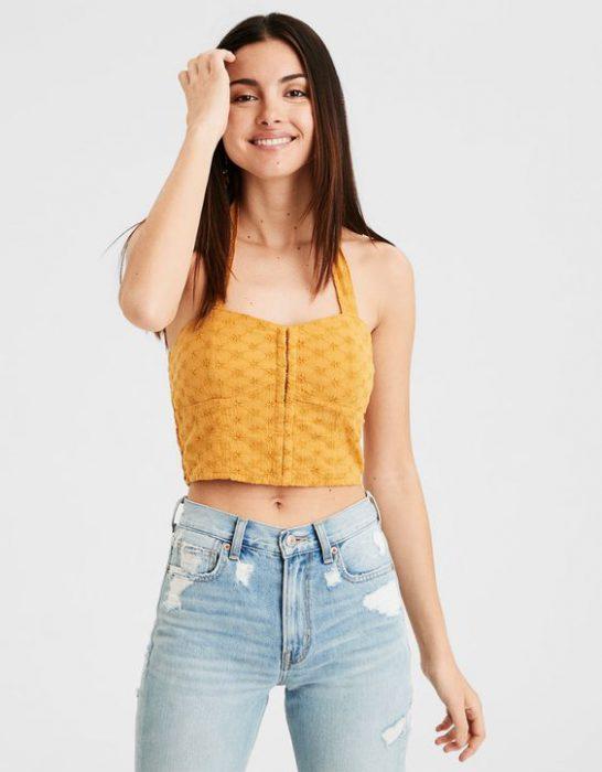 jeans claro y top verano