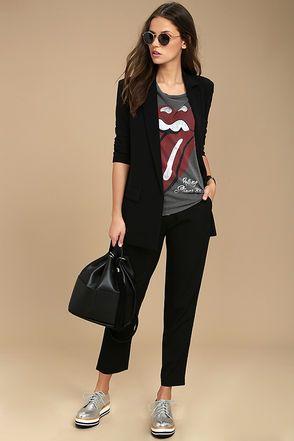 look juvenil traje negro mujer