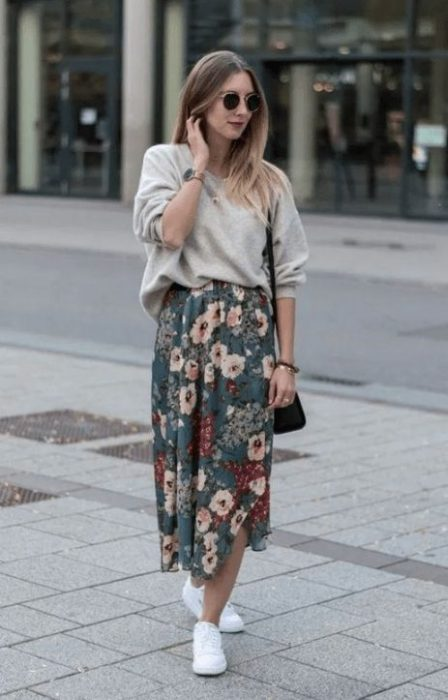 look primavea falda y sweater