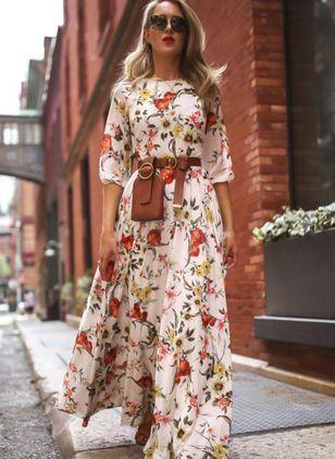 maxi vestido con mangas primavera