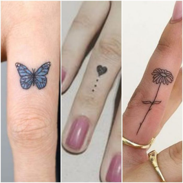 tatuaje pequeno para el dedo