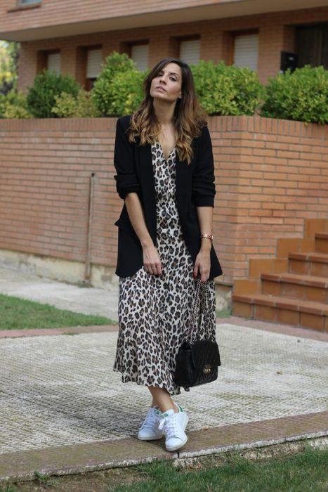 vestido con blazer pimaveraa