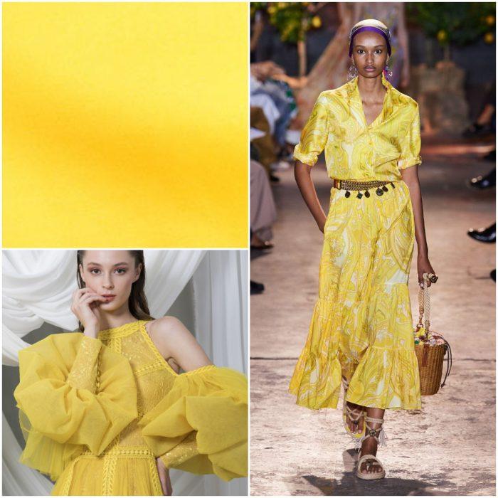 Amarillo Colores de moda primavera verano 2021