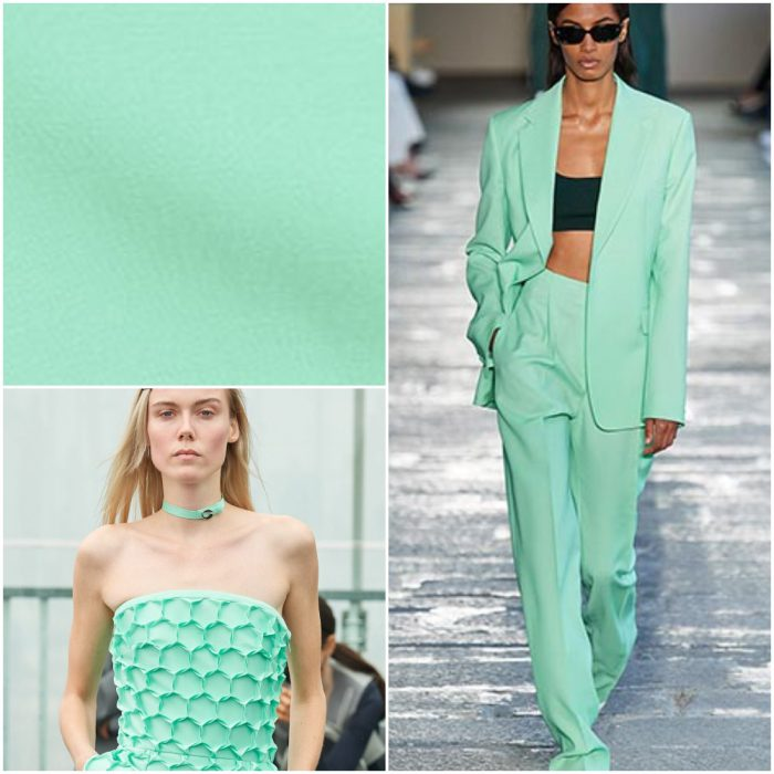 Aqua Colores de moda primavera verano 2021
