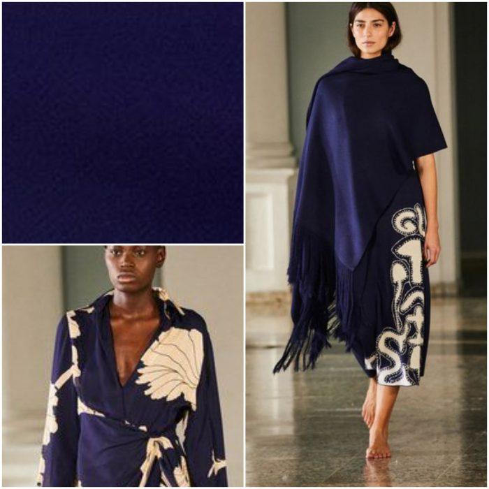 Azul oscuro Colores de moda invierno 2022