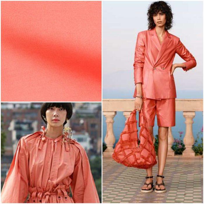Coral quemado Colores de moda primavera verano 2021