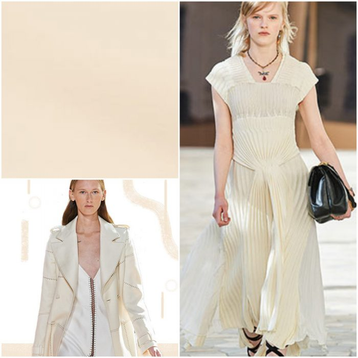 Crema Colores de moda primavera verano 2021