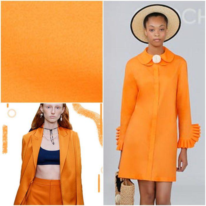 Marigold Naranja Colores de moda verano 2021