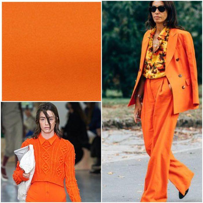 Naranja Ocre Colores de moda primavera verano 2021