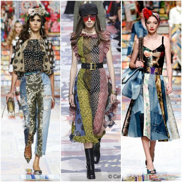 Patchwork moda mujer verano 2022 tendencias