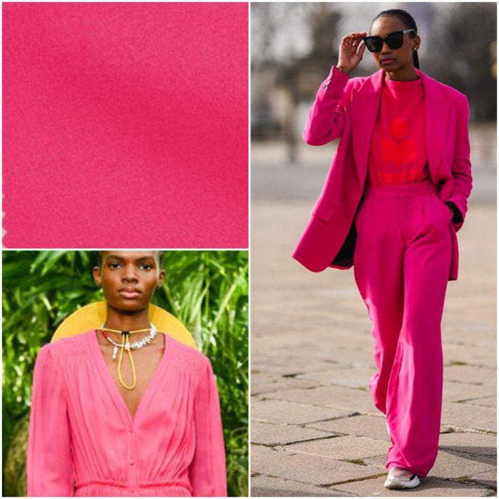 Raspberry Sorbet Colores de moda primavera verano 2021