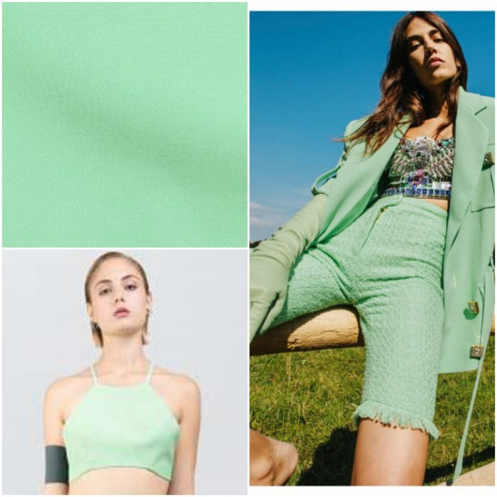 Verde menta claro Colores de moda primavera verano 2021