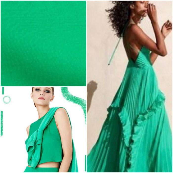 Verde menta fuerte Colores de moda primavera verano 2021