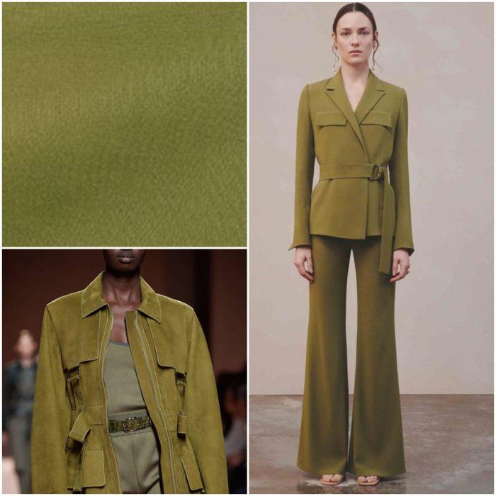 Verde olivo Colores de moda invierno 2022