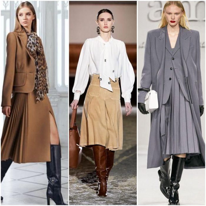 Working girl con faldas Tendencias invierno 2022