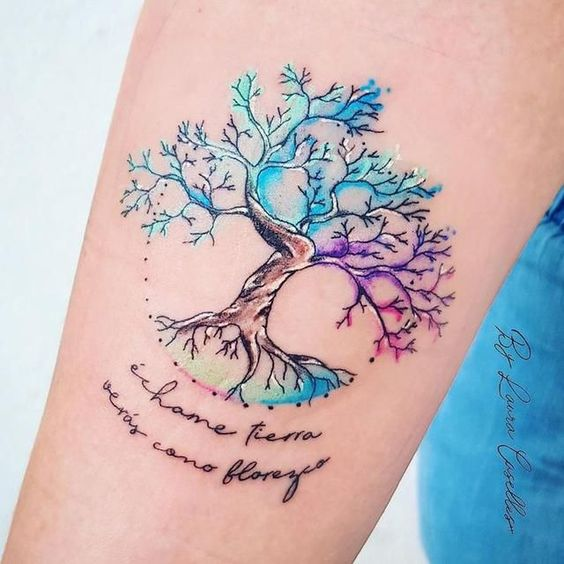 arbol familiar tatuaje