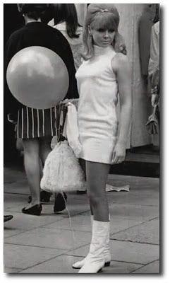 botas blancas anos 60