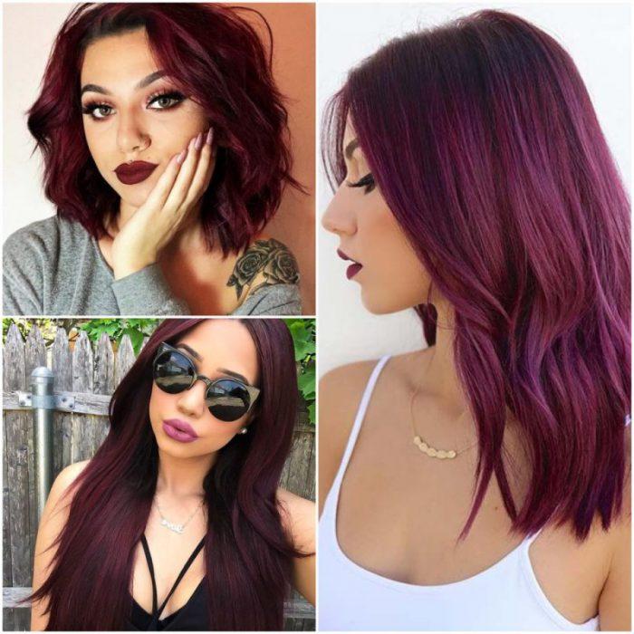 color borgona para el pelo