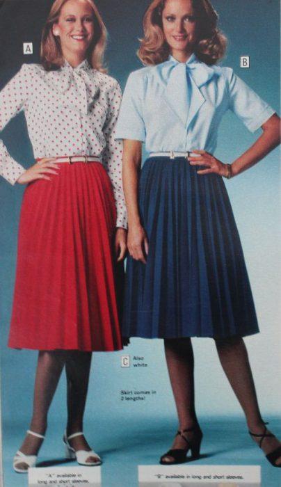 faldas plisadas de los 70