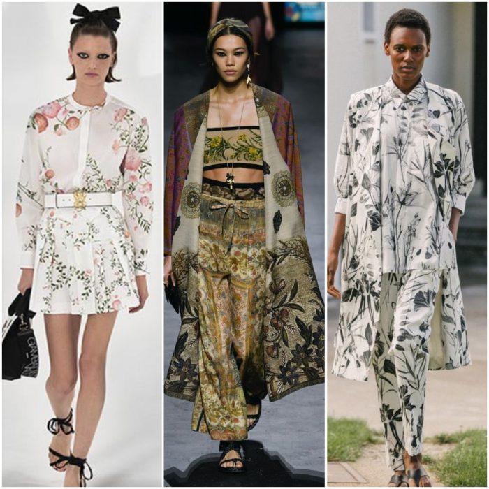 flores en la naturaleza estampas de moda verano 2022