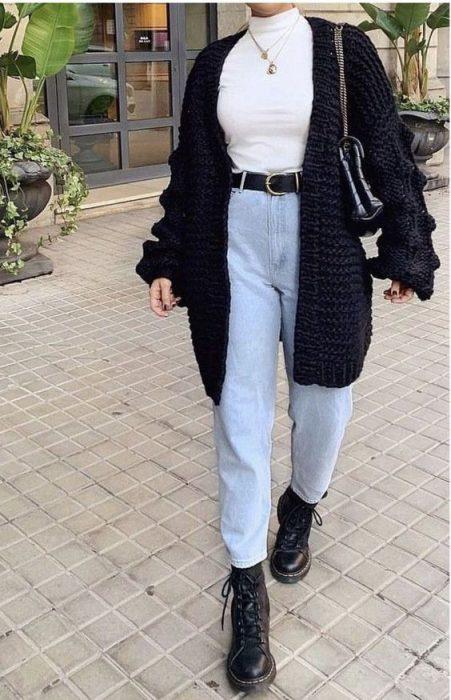 jeans mom mujer moda de los 90 1