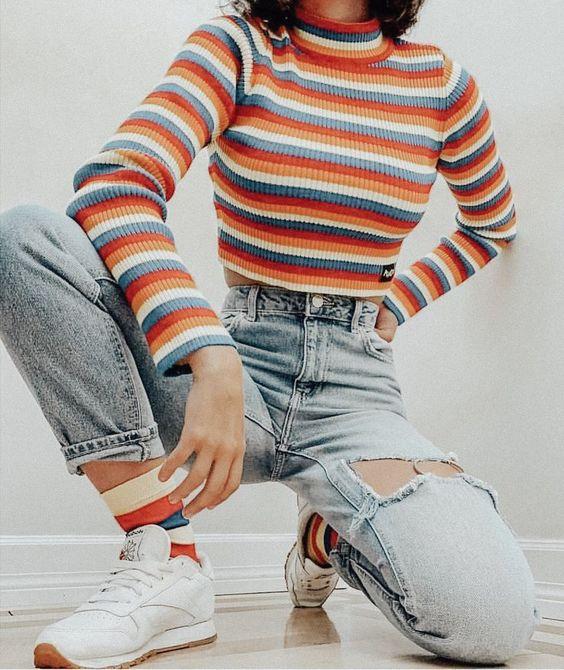 jeans rotos mujer moda de los 90