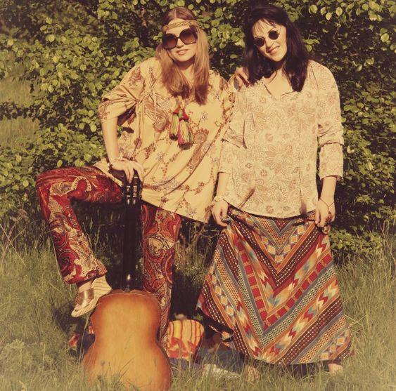 look de los 60 hippie