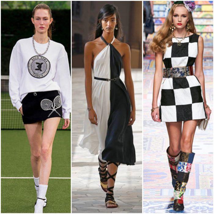 looks en blanco y negro moda mujer verano 2022 tendencias