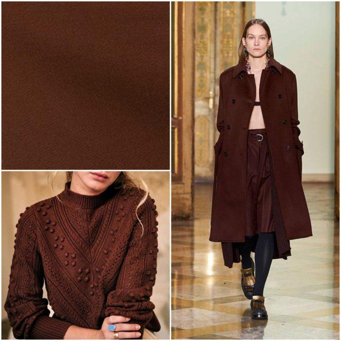 marron oscuro Colores de moda invierno 2022