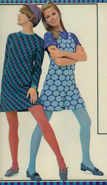 medias de colores de los anos 60