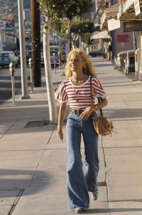 pantalones anchos mujer moda de los 90 1